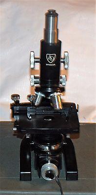 Spencer by AO American Optical Lab Microscope w/ 3 objectives & Illuminator