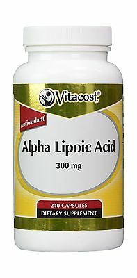 Vitacost Alpha Lipoic Acid    300 Mg   240 Capsules Free Shipping