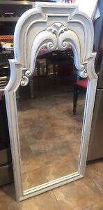 Vintage refinished mirror solid wood