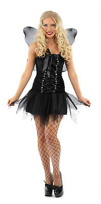 LADIES SEXY GOTHIC FAIRY DARK ANGEL FANCY DRESS HALLOWEEN  OUTFIT COSTUME WOMENS - Dark Angel Outfits