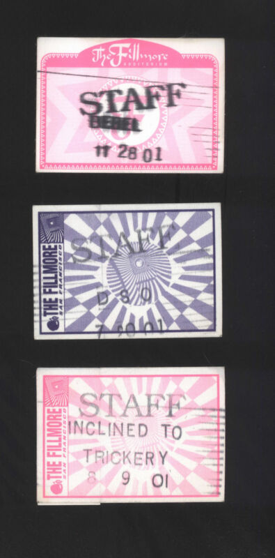 3 Fillmore 2001 STAFF Cloth Passes DSO Bebel Gilberto Inclined To Trickery