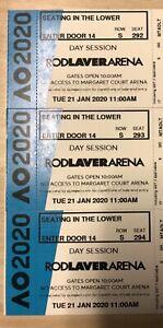 3 x Australian Open 2020 Tennis Day Tickets  21Jan - Rodlaver Lower