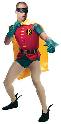 Grand Heritage Adult Robin Costume 1966 Classic Batman TV Show Adult Standard