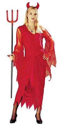 Kostüm Teufel Teufelkostüm Halloween Kleid für Damen Damenkostüm Gr. M - XXL