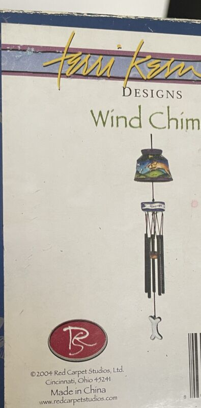 "Terri Kern New Designs RCS Ceramic Wind Chimes ""Remember To be Happy"" NIB"