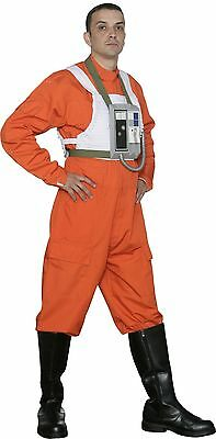 Star Wars X-Wing Costume Fighter Pilot Jumpsuit + Vest, Great Quality from USA