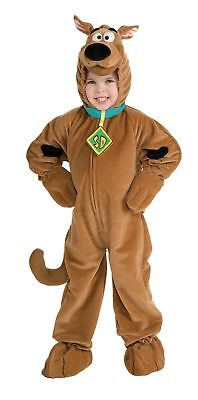 Scooby-Doo Deluxe Kinder Kostüm Reißverschluss Vorne Braun Velour Overall Kostüm
