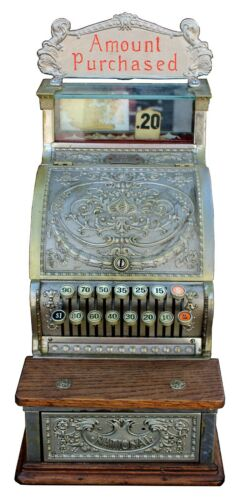Antique National Cash Register Co. Candy Store Register Model 313