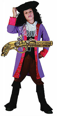 PIRATE CAPTAIN HOOK Fancy Dress Costume Outfit Hat & Gun (Captain Hook Hat)