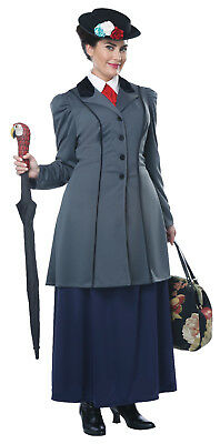 Mary Poppins English Nanny Adult Women Plus Costume  (English Nanny Costume)