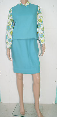 Vintage 60's Mod Scooter Go Go Skirt Vest Shirt Outfit by Russ - Size Small - 60s Mod Outfits