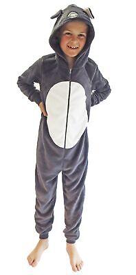 Mädchen Jumpsuit Overall Onesie Schlafanzug in niedlichen Tier Motiven