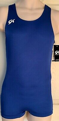 GK ELITE MENS COMPETITION SHIRT SIZE ADULT MEDIUM ROYAL NYLON/SPANDEX AM NWT!
