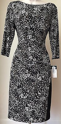 Lauren Ralph Lauren Printed Jersey Sheath Dress Nwt Size 6 8 12 14