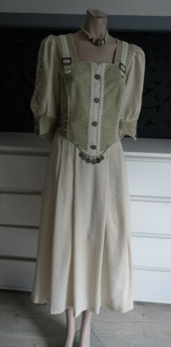 Trachten German Austrian Linen Dress 14