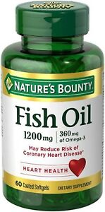 Nature's Bounty Fish Oil, 1200mg, Softgels, 60 ea