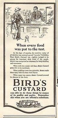 1919 ANTIQUE PRINT- ADVERT-BIRDS CUSTARD