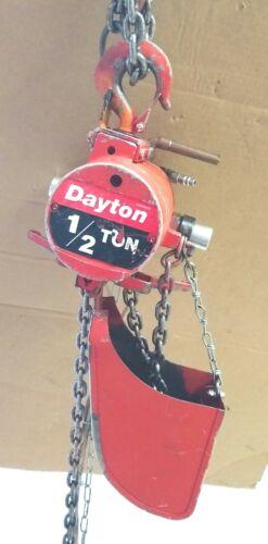 1/2 Ton Dayton Air Hoist Link Chain 1000 Lbs. Pneumatic overhead lifting crane