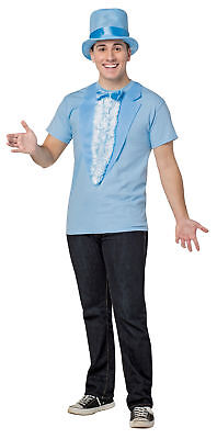 Dumb and Dumber Harry T-Shirt Adult Men Costume Blue Tux Movie Funny Halloween - Dumb And Dumber Halloween Costumes For Mens