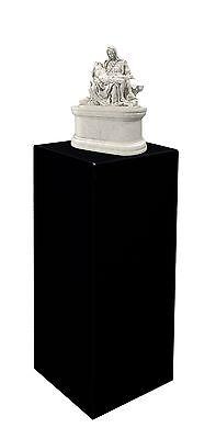 12 X 12 X 32 Black Acrylic Lucite Display Cube Pedestal Art Sculpture Stand