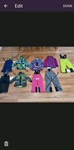 Kids snow gear. Jackets $20. Pants $15.