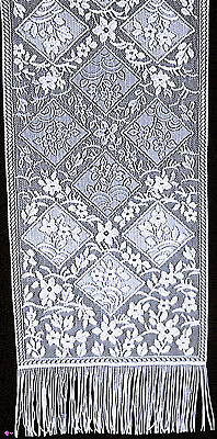 Chantilly 14x48 White Lace Table Runner Heritage Lace NWOT Chantilly Lace Runner