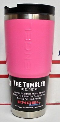 THE TUMBLER by Engel Stainless w/ Lid 30oz PINK - Wedding Party Gift Set of 12 -