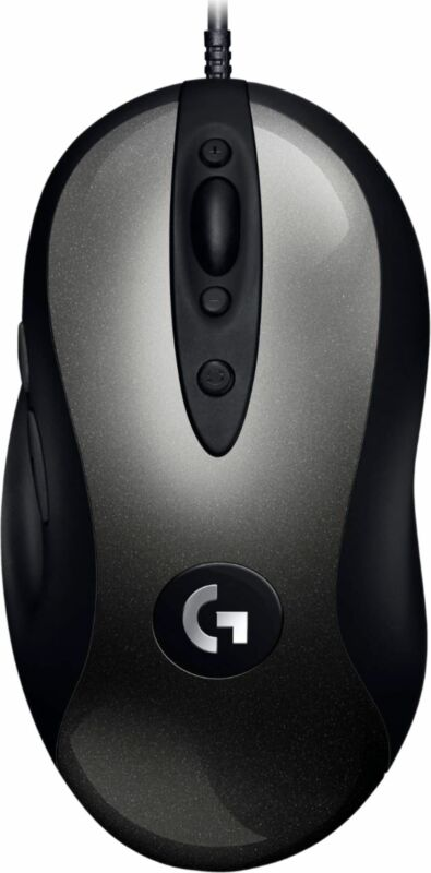 Logitech - G MX518 Wired Optical Gaming Mouse - Black/Gray