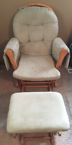Sage Green Rocker with Foot Stool