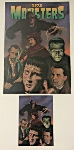 Classic Monsters Annual 2021 Ltd Ed Art Print-14/250 & postcard-Kong-Frankenstei