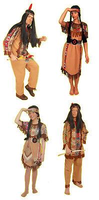 komp INDIANER Squaw Häuptling Damen Herren Jungen Mädchen Kinder Kostüm Perücke
