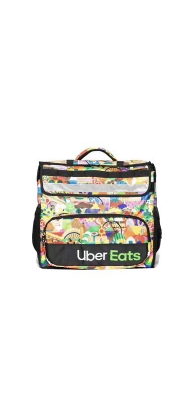 Uber Eats Limited Edition Artist (Melanie) Insulated Backpack Bag Food IN HAND