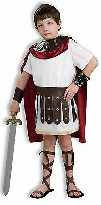 Boys Deluxe Gladiator Costume Greek Roman Warrior God Tunic Armor Childs Kids