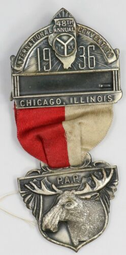 1936 Royal Order of Moose. Chicago. Jeweled Ribbon. MR026