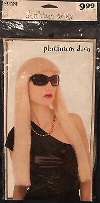 Platinum Blonde Wig Halloween (Platinum Diva fashion wig - blonde - adult one size fits most - HALLOWEEN)