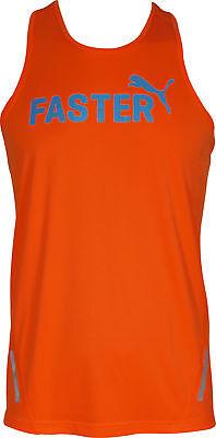 Puma PR Power Cool Graphic Mens Running Vest - Orange