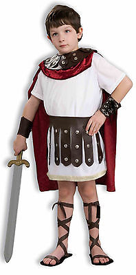 Kids Roman Gladiator Costume Greek Soldier Historical Costume Child Size Md 8-10 - Childrens Roman Soldier Costume