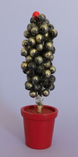 Rare Antique Christmas Decoration Mercury Glass Balls Tree with Wooden Base a C