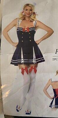 Leg Avenue Flirty First Mate Sailor Navy Blue Halloween Sexy Adult Costume Sz L ()