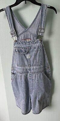 Vintage Overalls & Jumpsuits Vintage Old Navy Faded Blue Denim SHORTALLS OVERALLS BIBS WOMEN'S SIZE Med Y2K $38.99 AT vintagedancer.com
