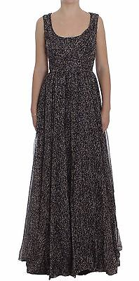 Dolce & Gabbana Vestido Oscuro Seda Cambio Vestido Largo IT40/US6/S