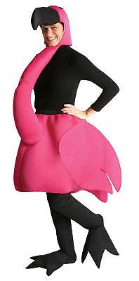 Flamingo Maskottchen Unisex Kostüm Pink Kopfbedeckung mit Schwarz Schnabel