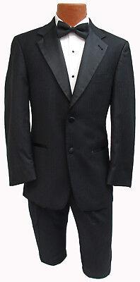 Men's Black Joseph Abboud Tuxedo with Pants Gangster Bond Halloween Costume 40R](1940 Gangster Costume)