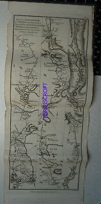 1776 Taylor & Skinner Strip Map, Edinburgh, Thurso, Johny Grots, Aviemore