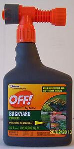 bottles off backyard bug control hose end spray mosquito repellent