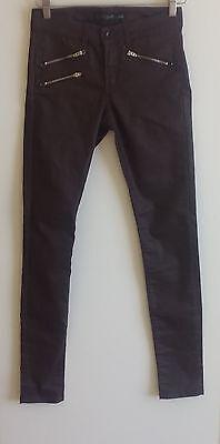 Womens Jeans 7 Jag Designer  Plum Jeans Pants Bombshells  Sz 7 US 3 EU 36