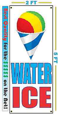 Water Ice Vertical Banner Sign New