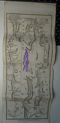 1776 Taylor & Skinner Strip Map, The Road from Edinburgh to Wigtoun & Whitehorn