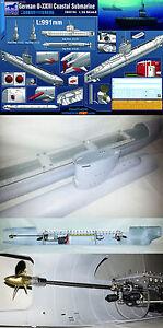 RC Submarine 1/35 German Type XXIII U-Boat Submarine + ( RTR WTC Full Set )