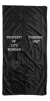 Body Bag Halloween Prop Crime Scene Black Haunted House Garden Yard Spooky (Body Bag Prop)